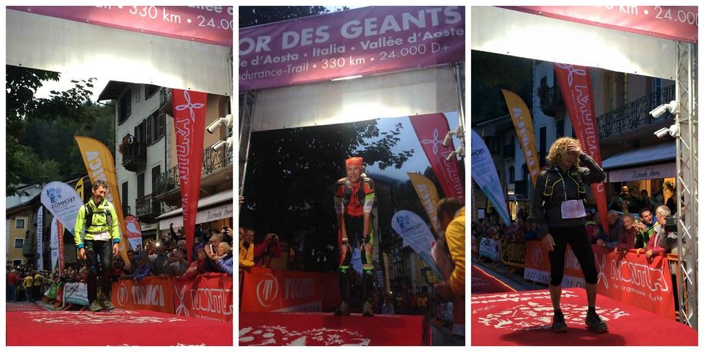 Από αριστ: Bohard, Galeati, Les Saux, η νικήτρια τριάδα του TDG 2015