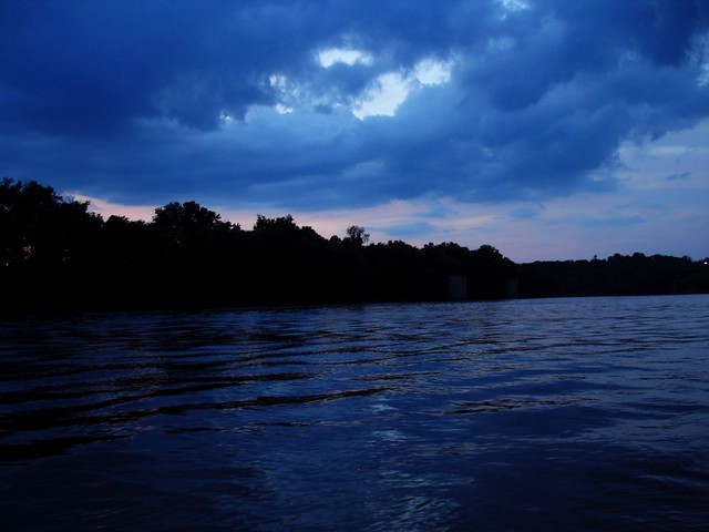 dark sunset on the cumberland