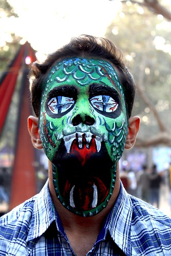 india green art fun facepainting dragon iit springfest horror python beatiful westbengal iitkharagpur iitkgp kgp