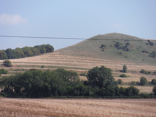Ancient Terracing (Strip Lynchets) on Oare Hill