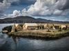 Uros Floating Islands, Lake Titicaca, Peru by Justgetdancey