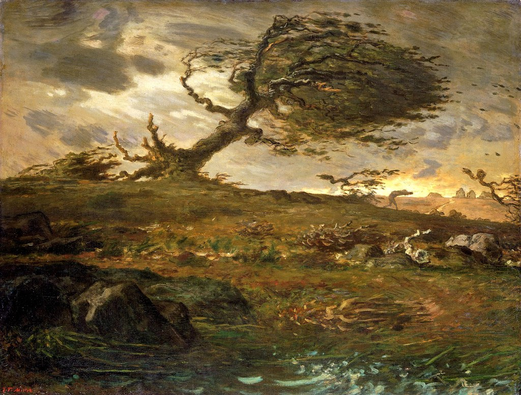 The Gust of Wind by Jean-François Millet - 1873