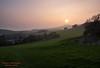 Sunset over the Kimmeridge Valley