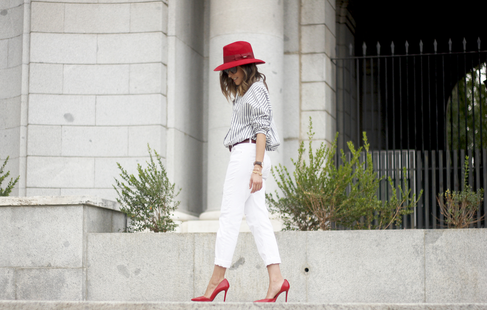 Red Hat Red Shoes White Jeans16