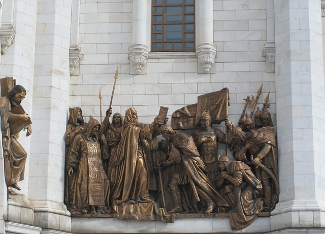 statues, Christ the Saviour Cathedral in Moscow