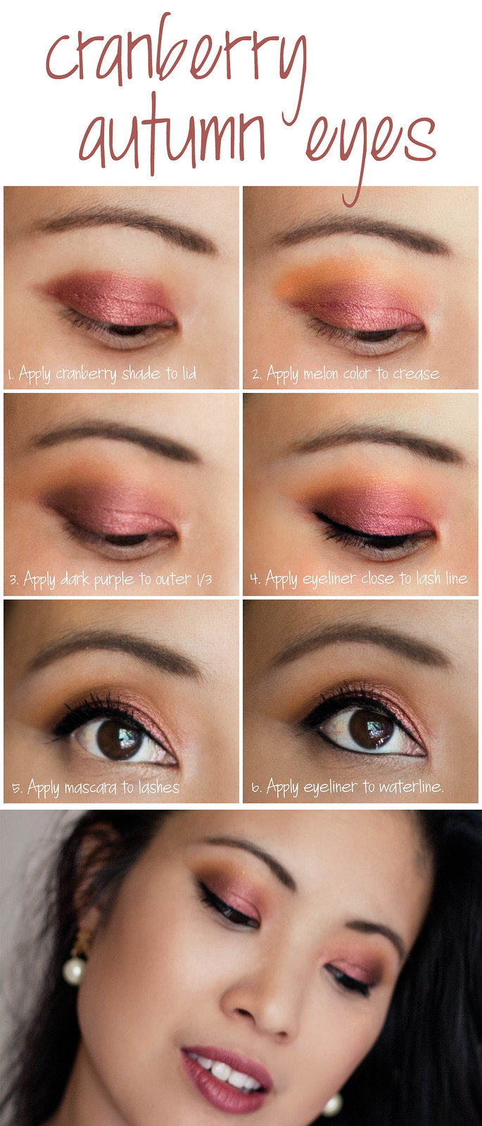 cute & little blog | cranberry autumn makeup tutorial #LorealBeauty