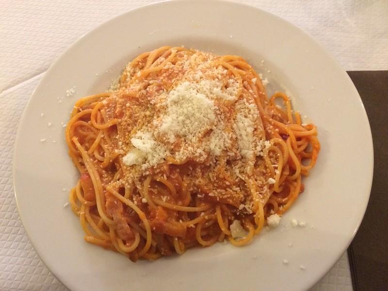 Spaghetti from Da Francesco.