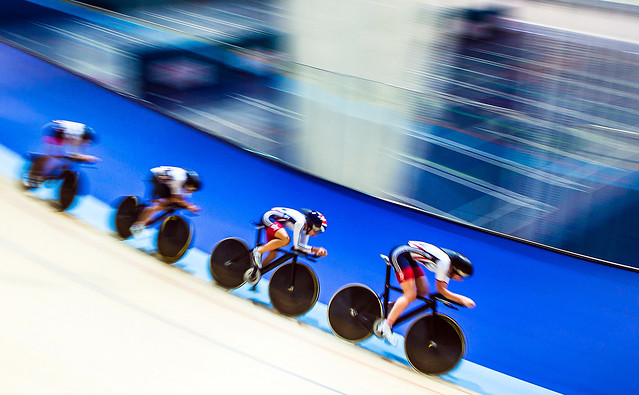 Great Britain Cycling Team training pre-2015 European Track Championships