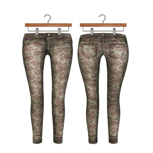 {MYNX} Skinny Jeans - Floral