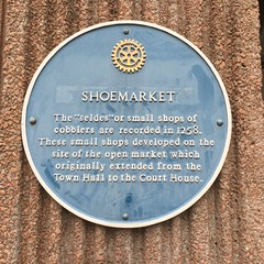 Photo of Shoemarket blue plaque