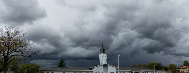 Late October Thunderstorm Over LDS Church