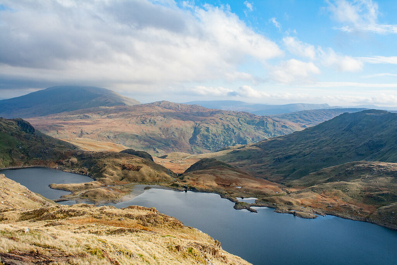 The lakes around Mount Snowdon
