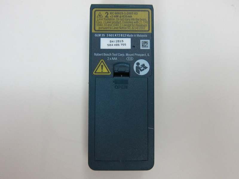 Bosch GLM 35 Laser Measure - Back