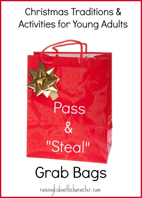 Christmas With College and Adult Children Pass and Steal Grab Bags