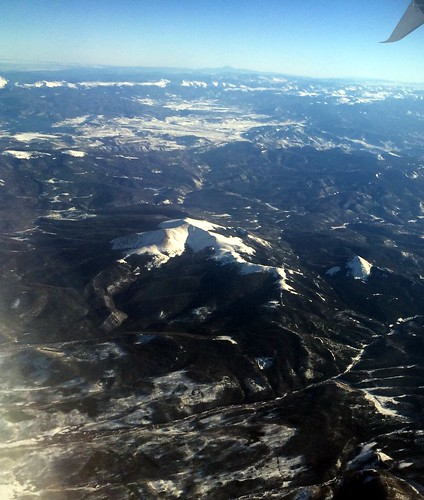 usa snow mountains rocky aerial