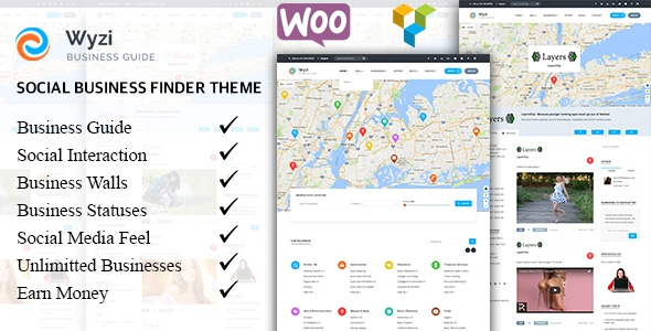 WYZI v1.2.0 - Social Business Finder WordPress Directory Theme