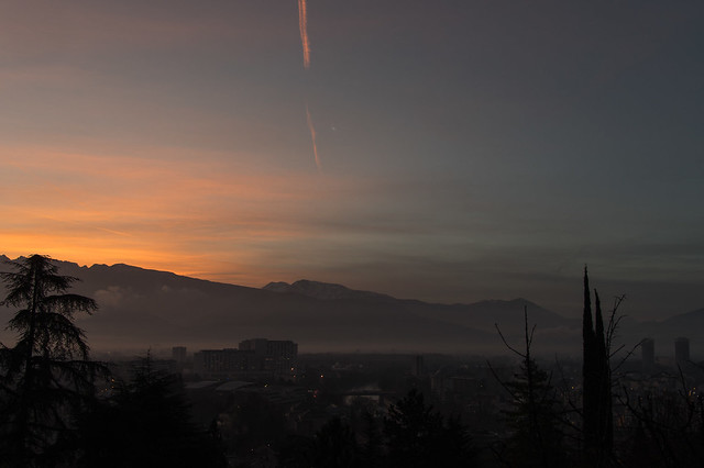 Sunrise, Grenoble, 8:01 am