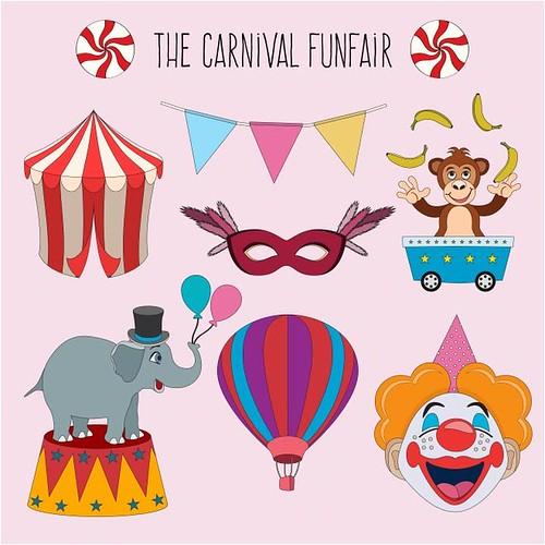 free vector Brazil Carnival 2017 Fun Fair Collection Circus background