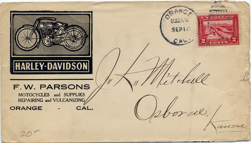 Advertising Cover for Harley-Davidson Motorcycles