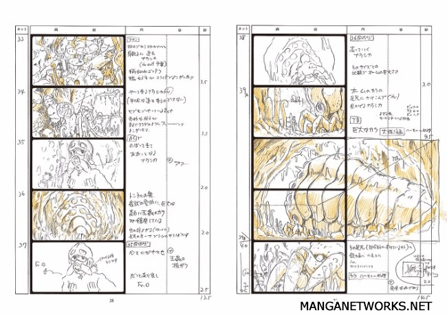 32739911200 8c5e4525a4 o 16 Storyboards của Studio Ghibli sẽ khiến bạn muốn xem lại Movie ngay lập tức !!