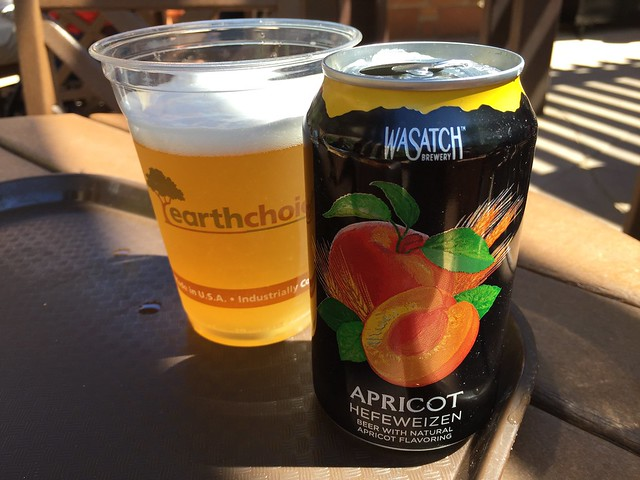 Wasatch Brewery apricot hefeweizen - Castle Dome Cafe