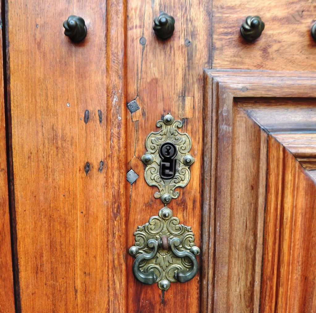 Random Shot of a Door at the University of Coimbra, Portugal.