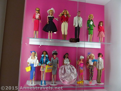 Barbie Dolls on display in the Strong National Museum of Play in Rochester, New York