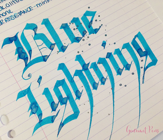 Ink Shot Review Diamine Blue Lightning (7)