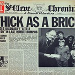 JETHRO TULL THICK AS A BRICK ORIGINAL NEWSPAPER COVER Germany