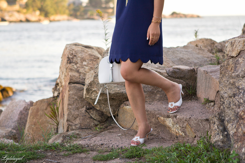 navy scalloped dress, white bag and sandals-6.jpg
