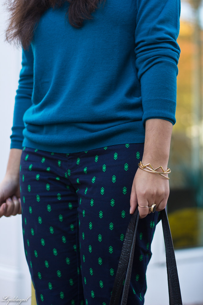 teal sweater, printed pants, ferragamo pumps-6.jpg