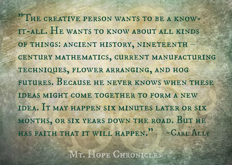 On Memorization @ Mt. Hope Chronicles