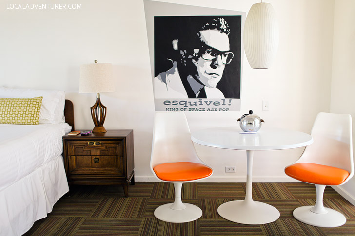 Esquivel Deluxe Room at the Del Marcos Hotel Palm Springs CA.