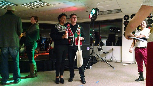 Ugly Christmas Sweater Contest at Artomatic, December 11, 2015.