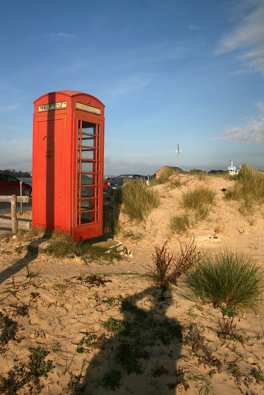 Telephone box on Shell Bay
