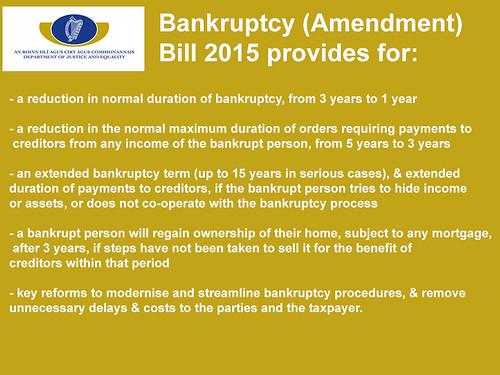 Bankruptcy (Amendment) Bill 2015