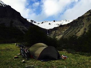 Camping sauvage au col de Cerro Castillo
