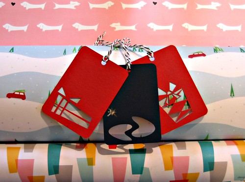 Vitamini Modern Wrapping Paper and Gift Tags