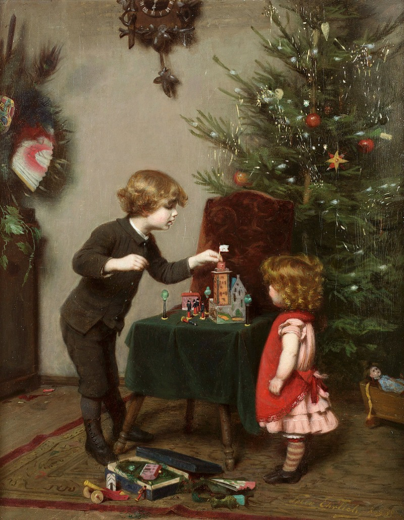 Christmas by Felix Ehrlich, (German, 1866 - 1931)
