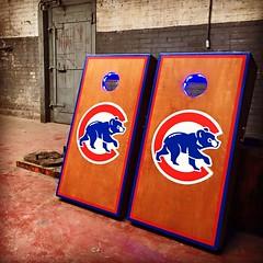 Double Cubs gunsmoke baggo Cornhole set