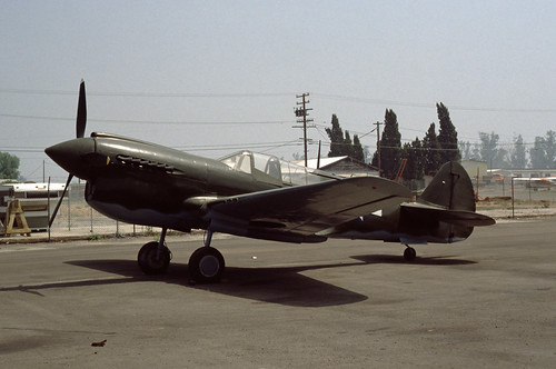 Curtiss TP-40N Warhawk at the Planes of Fame Museum, in 1980.