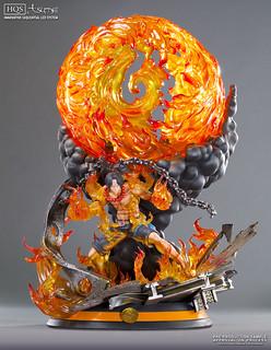 純欣賞!!秒完售?!TSUME 航海王系列【火拳波特卡斯.D.艾斯】Portgas D. Ace HQF 1/7 比例全身雕像作品