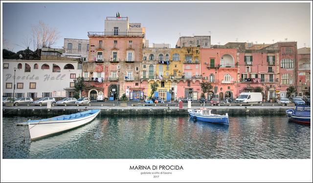 Marina di Procida postcard