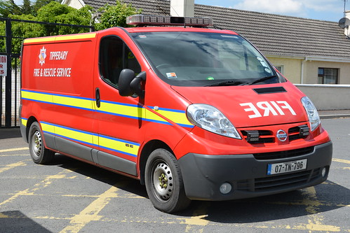 Tipperary Fire & Rescue Service 2007 Nissan Primastar TFRS EqC 07TN796