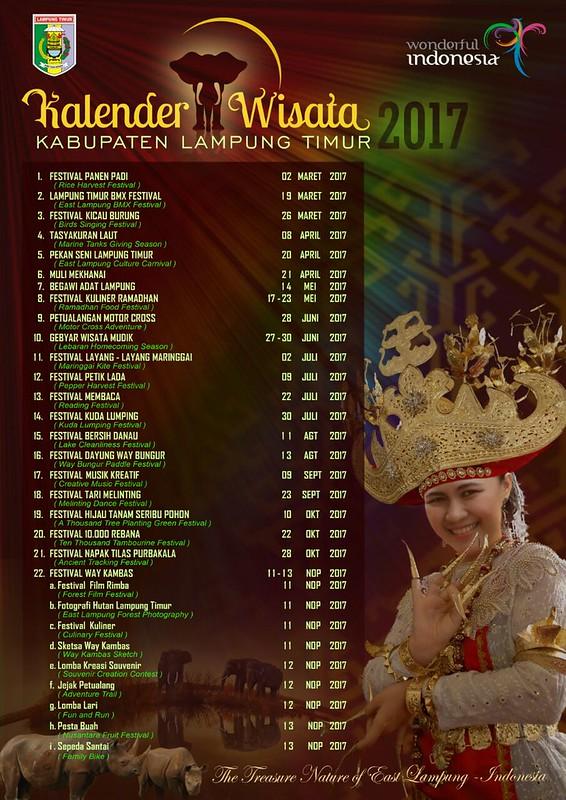 Kalender pariwisata Lampung Timur 2017