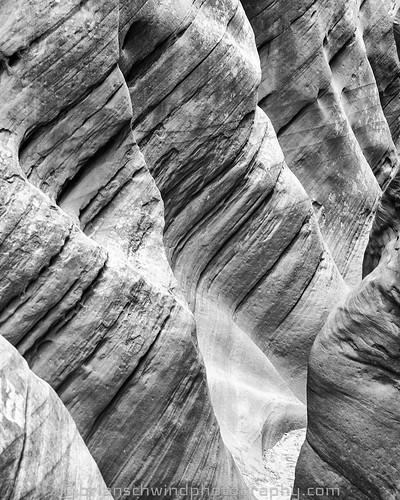 Sandstone Waves - Little Wild Horse Canyon, San Rafael Swell, UT.  .  .  .  #blackandwhite #desert #slotcanyon #sandstone #canyon   #exploretocreate #adventure  #photooftheday #travelandlife #instagoodmyphoto   #bns_usa #ig_udog #bestvacations #ic_adventu