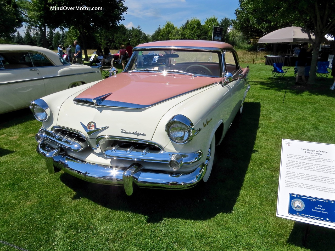 1955 Dodge Lafemme At The 2015 Concours Of America Mind Over Motor 1950s Cars La Femme Front
