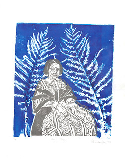Anna Atkins with ferns