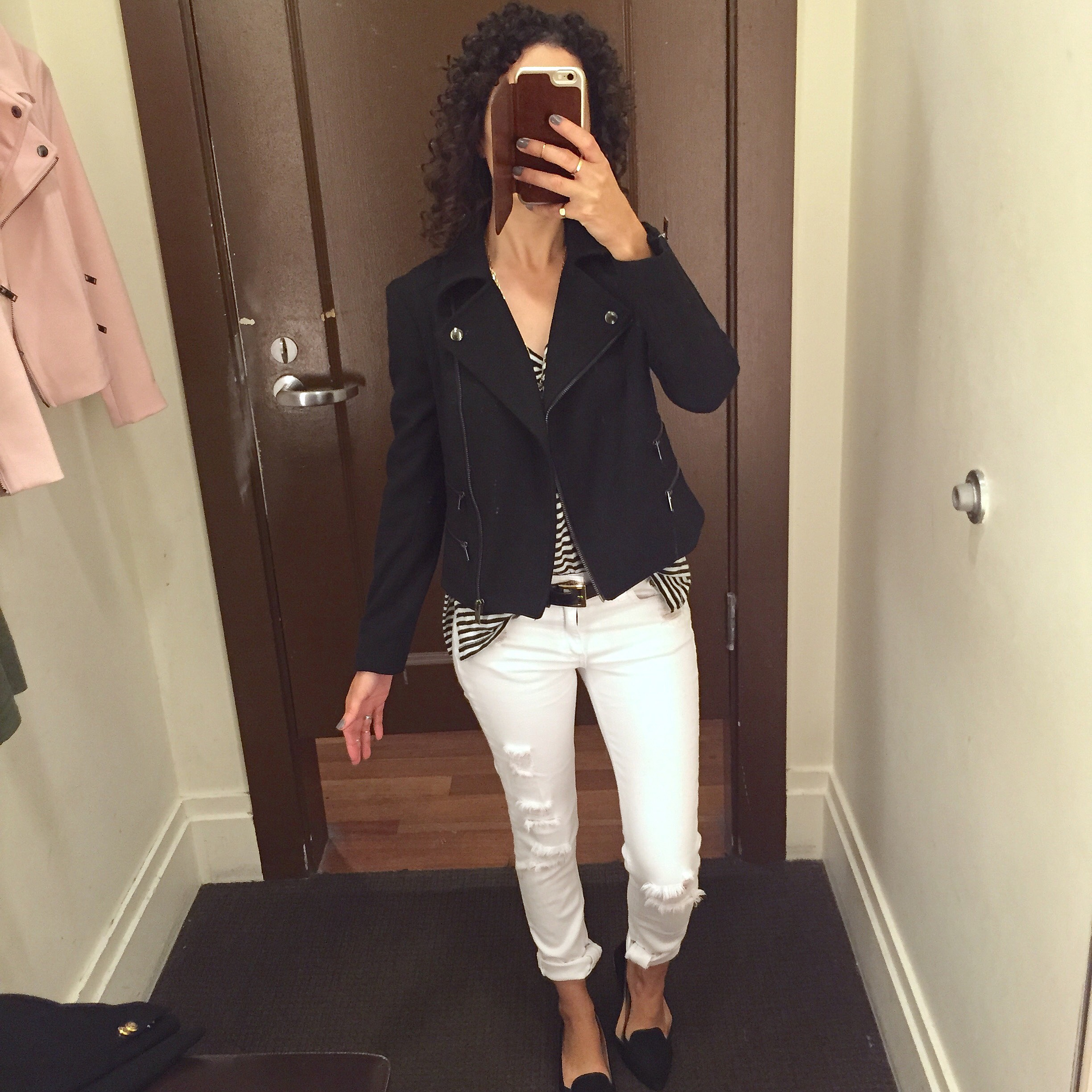 Petite Banana Republic Moto Jacket Review