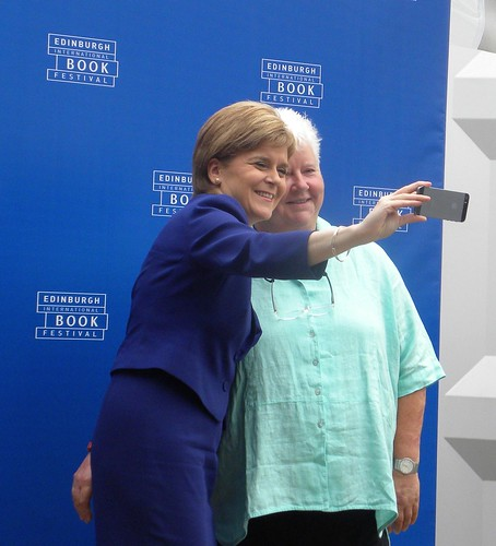 Nicola Sturgeon and Val McDermid